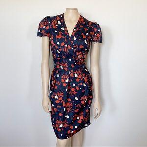 [Anthropologie] Karen Walker Floral Retro Dress